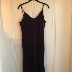 uniqlo velvet slip dress